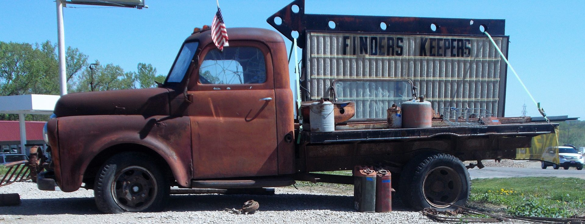 Finders Keepers antique truck